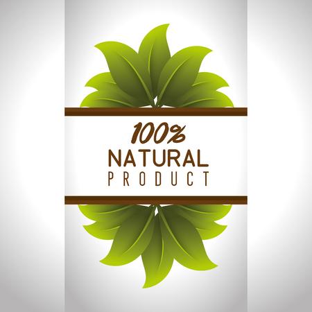 seal natural product guaranteed vector illustration design