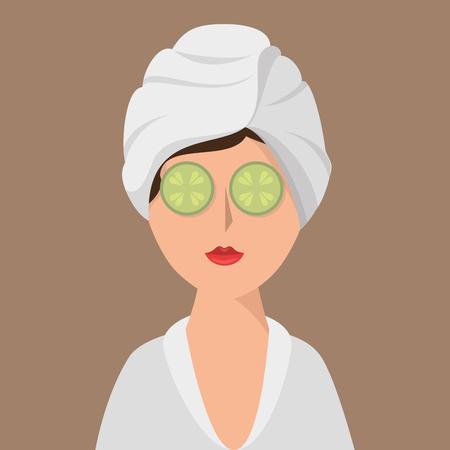 woman avatar on spa vector illustration design Illustration