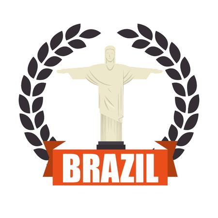 corcovado: christ corcovado brazil icon vector illustration design Illustration
