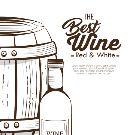 the best wine garanteed vector illustration design