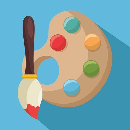 colors pallete paint isolated icon vector illustration design