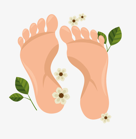 human foots spa treatment vector illustration design