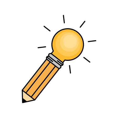bulb light big idea concept vector illustration design