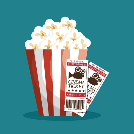 cinema ticket entrance icon vector illustration design