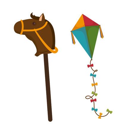 icon series: set kids toys icons vector illustration design