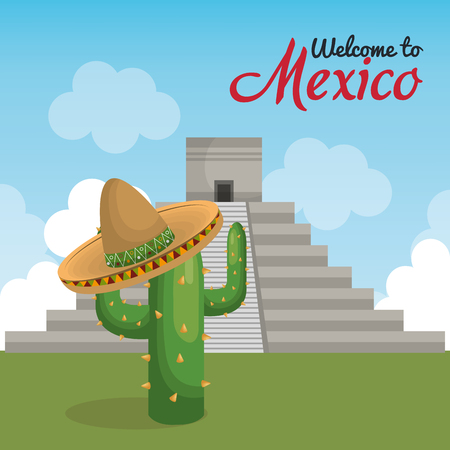 viva mexico poster icon vector illustration design