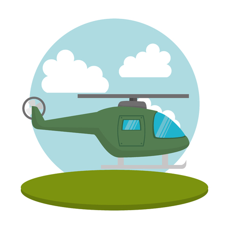 helicopter flight transport icon vector illustration design