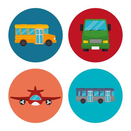 Moyen d'icônes de transport conception d'illustration vectorielle