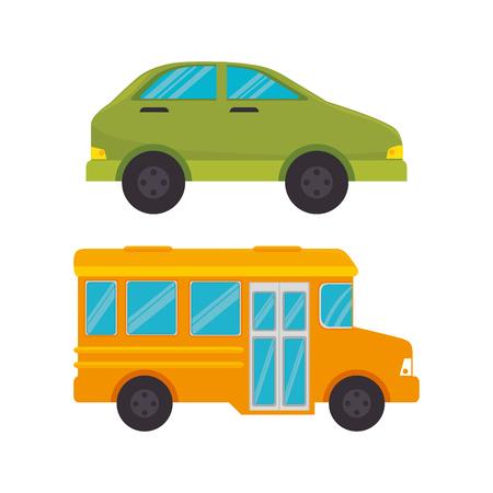 Middelen van vervoer pictogrammen vector illustratie ontwerp