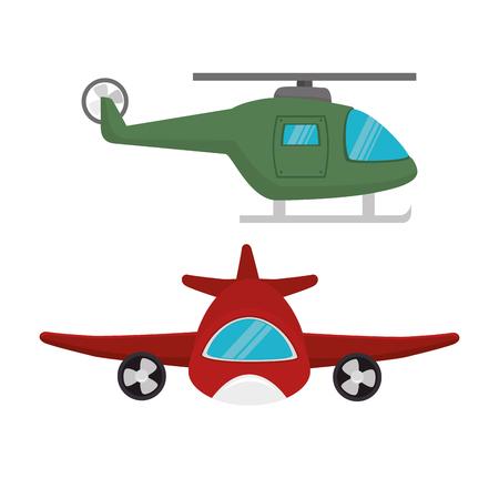 Medios de transporte iconos diseño de ilustración vectorial
