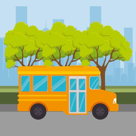 bus public transport icon vector illustration design