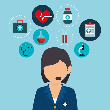 healthcare professional avatar character vector illustration design Illustration
