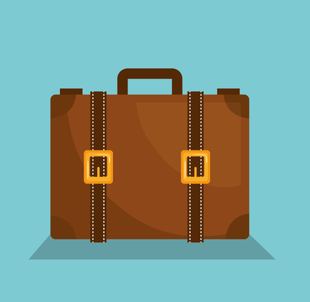 suitcase travel vacations icon vector illustration design