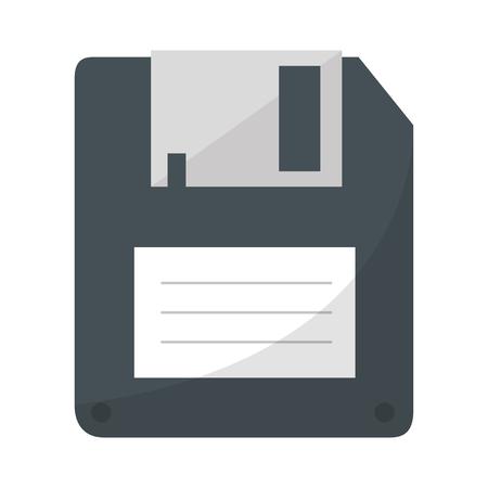 silueta de color con la ilustración de vector de disquete Ilustración de vector