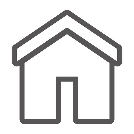 grayscale contour with home icon vector illustration