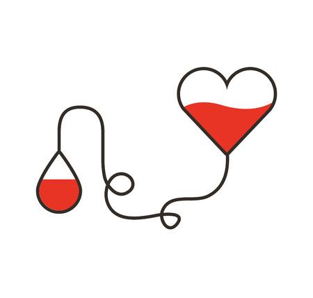 Bloeddonatie medisch pictogram vector illustratie ontwerp