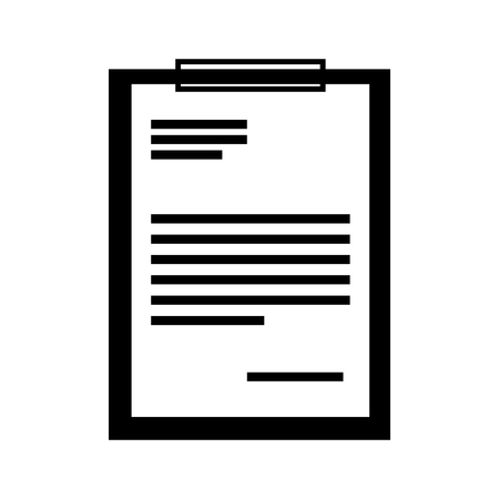 writing pad: clipboard paper isolated icon vector illustration design Illustration