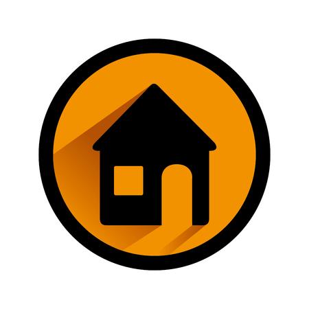 color circular emblem with home vector illustration Illustration