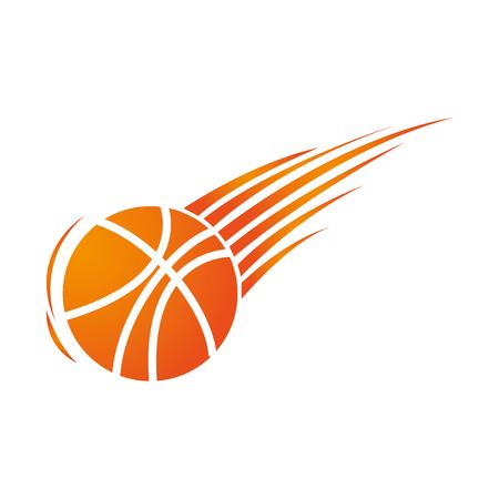 シルエット カラフルなバスケット ボール アイコン スポーツ ベクトル図