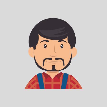 arquitecto caricatura: construcción profesional avatar carácter ilustración vectorial diseño Vectores