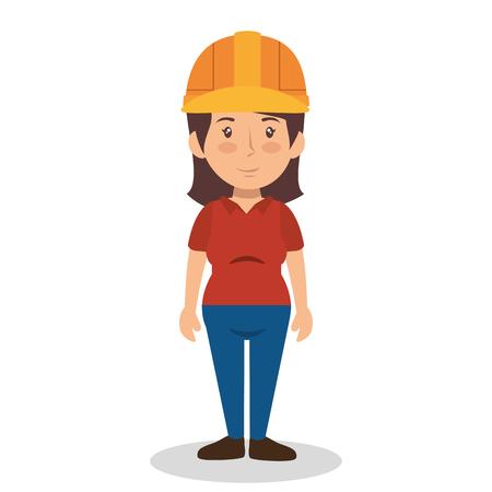 arquitecto caricatura: construction professional avatar character vector illustration design