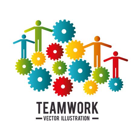 teamwork: teamwork people company icon vector illustration design Illustration