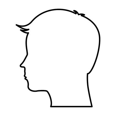 male profile silhouette icon vector illustration design