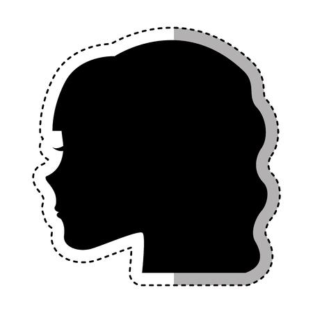 female profile silhouette icon vector illustration design Ilustrace
