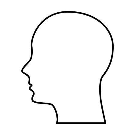 男性プロファイル シルエット アイコン ベクトル イラスト デザイン
