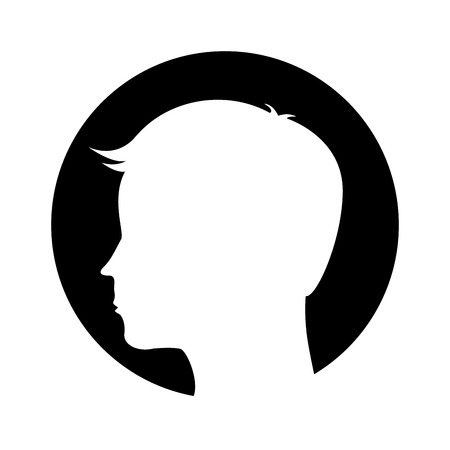 male profile silhouette icon vector illustration design
