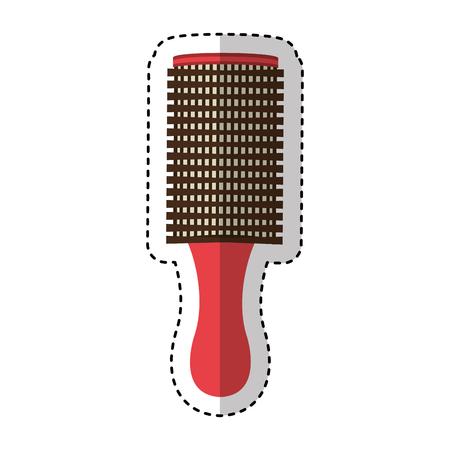 hair brush isolated icon vector illustration design