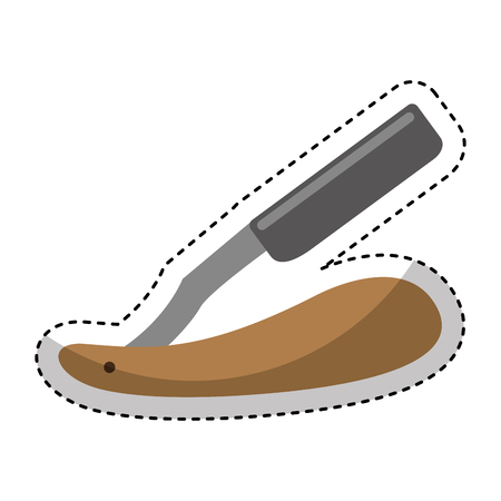 Razor blade isolated icon vector illustration design