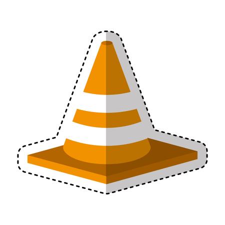 construction cone isometric icon vector illustration design Illustration
