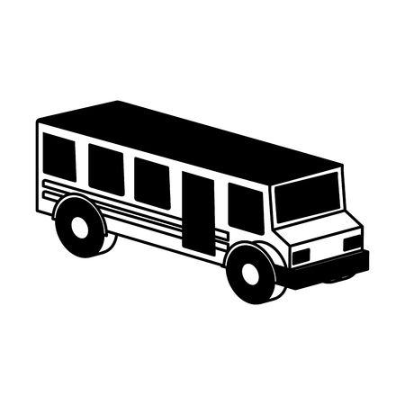 schoolbus: bus school isometric icon vector illustration design