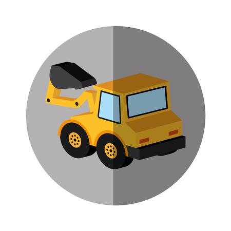 excavator vehicle isometric icon vector illustration design Illustration