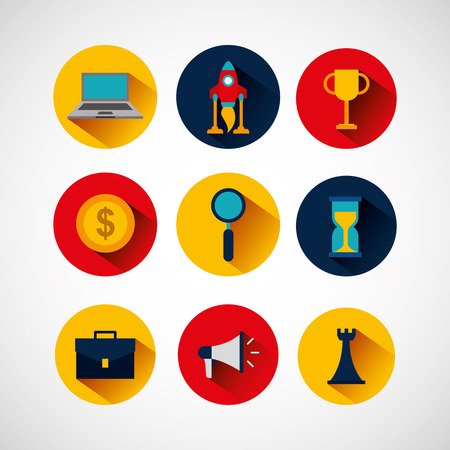 business startup concept icons vector illustration design