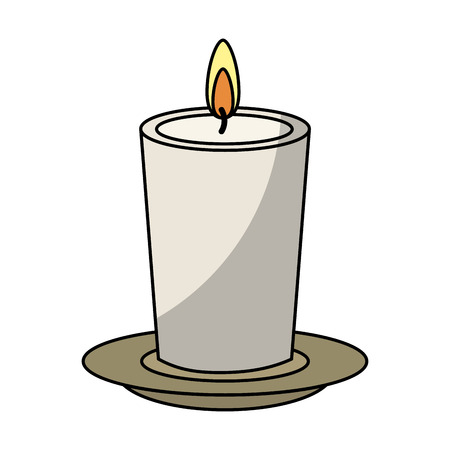 spa still life: candle spa aroma therapy vector illustration design