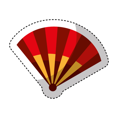 typical fan spain icon vector illustration design