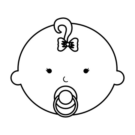 cute baby girl character vector illustration design