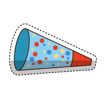 cornet: party cornet isolated icon vector illustration design Illustration