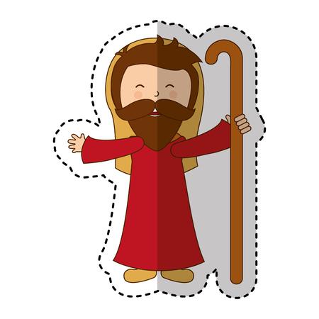 saint joseph manger character vector illustration design Illustration