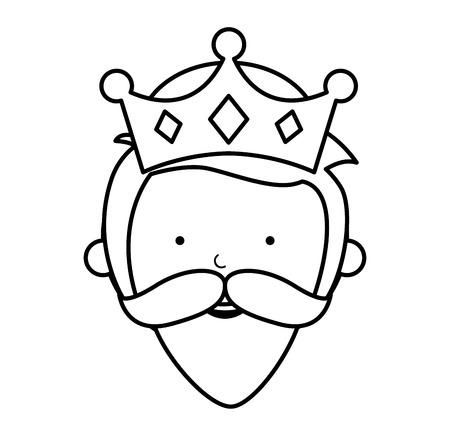 balthazar: wise man manger character vector illustration design