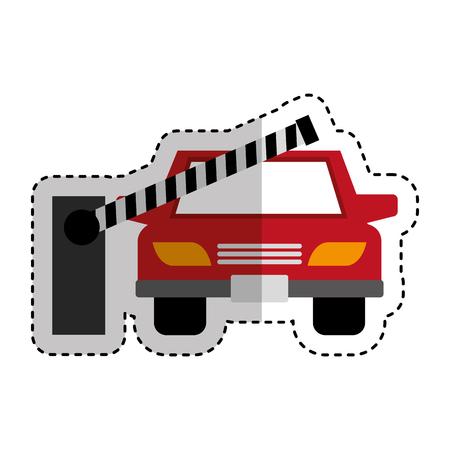 parking zone entrance barricade vector illustration design