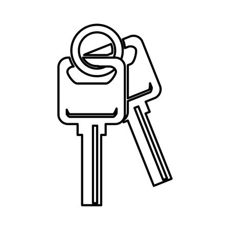 keys car isolated icon vector illustration design