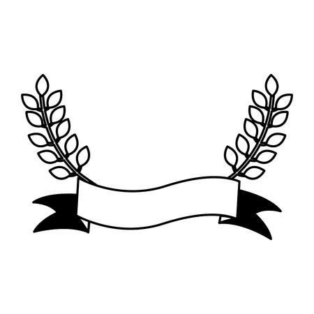 Illustrazione vettoriale di icone della corona di foglie di corona