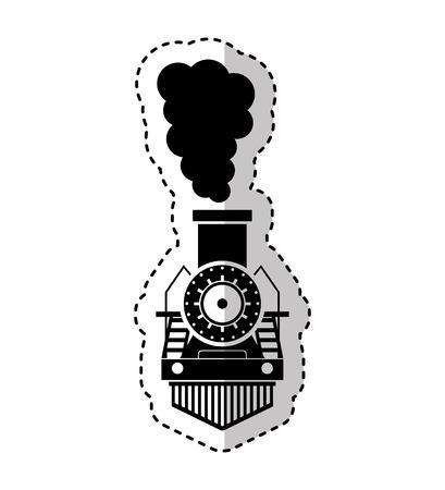 steam train silhouette isolated icon vector illustration design