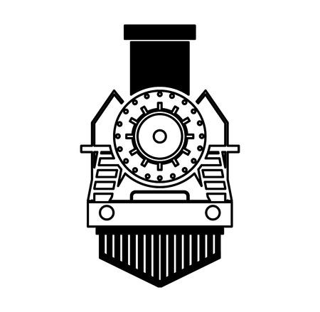 steam iron: steam train silhouette isolated icon vector illustration design