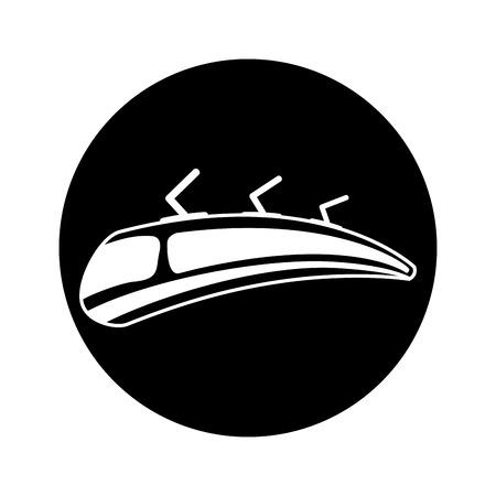 tram silhouette isolated icon vector illustration design