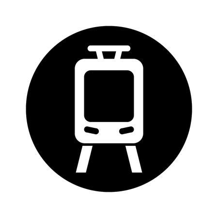 high speed train: tram silhouette isolated icon vector illustration design