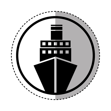 cruise boat isolated icon vector illustration design Illustration
